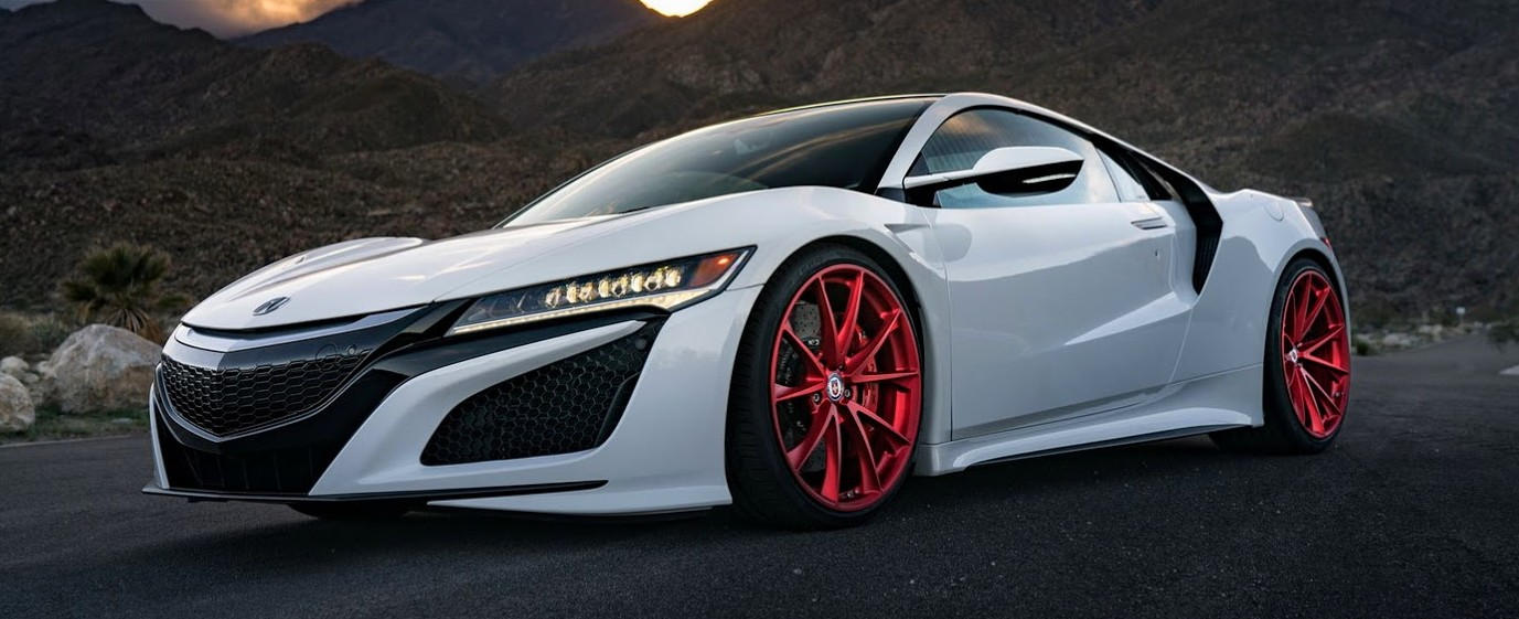 Acura Nsx On Hot On Frozen Red Custom Wheels