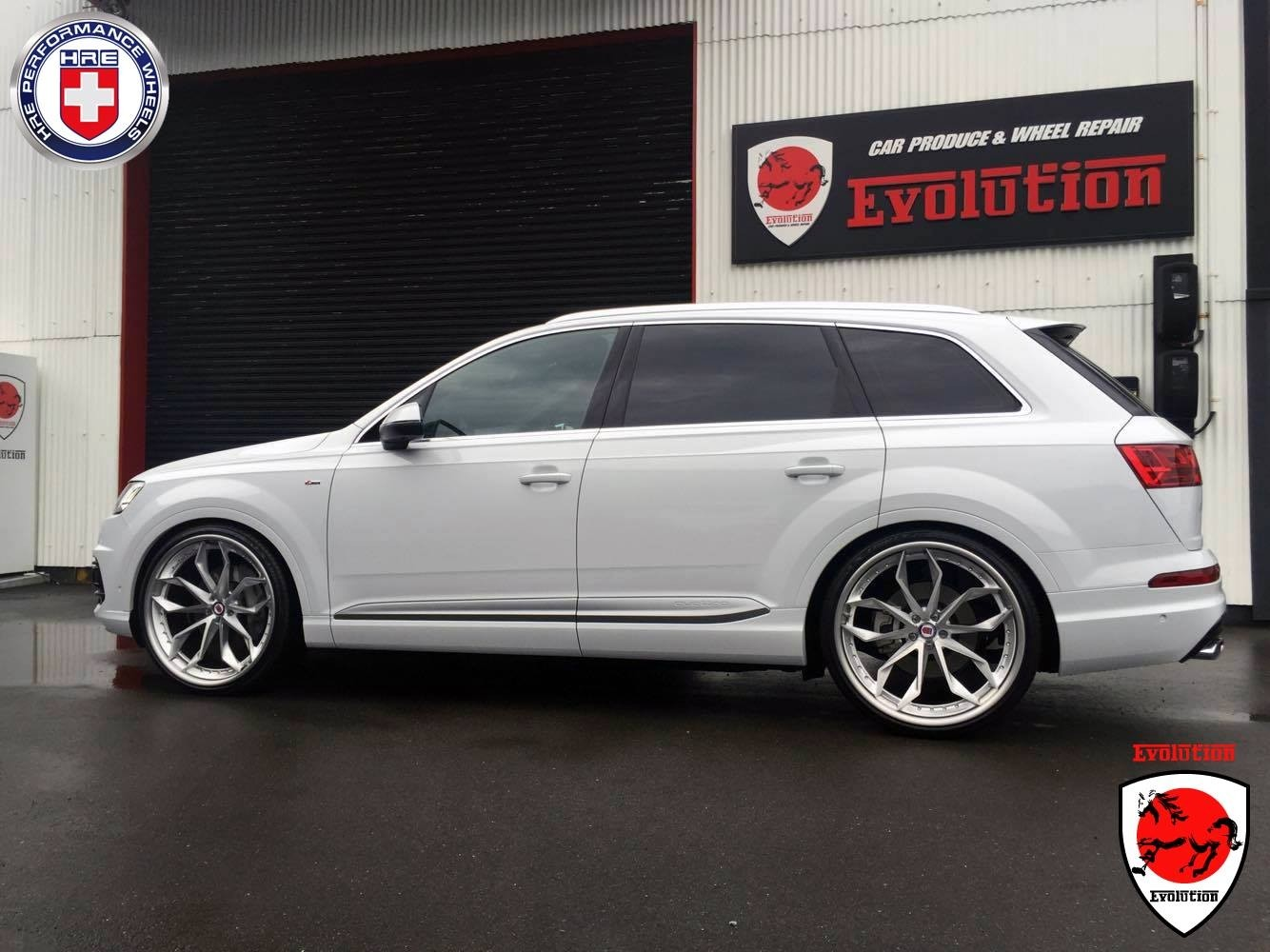 Badass White Audi Q7 On Hre Wheels Sexy