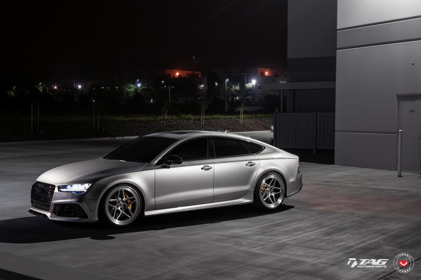 Gray Audi RS7 Sportback on Beast Mode!