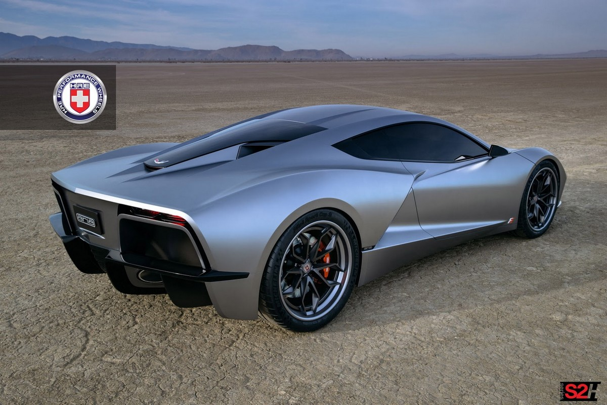 Aria concept for a mid engine c8 corvette Custom car designer online