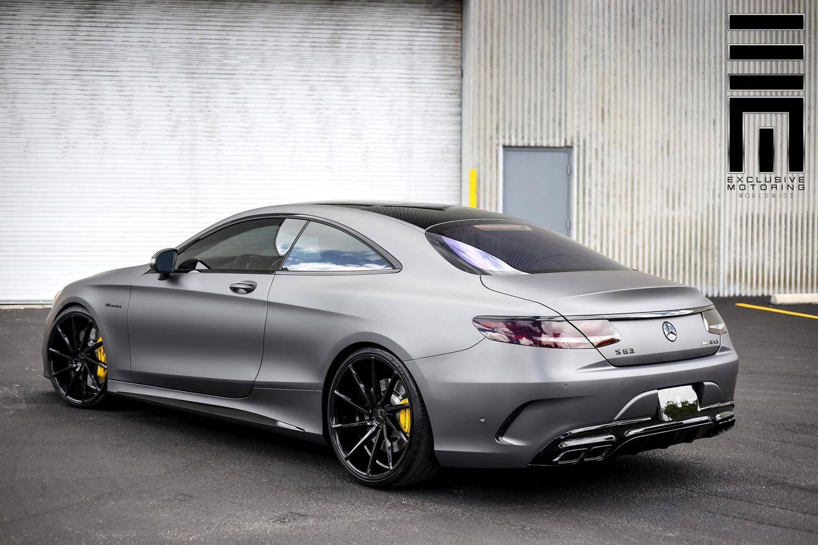 mercedes benz s63 amg coupe on vossen wheels. Black Bedroom Furniture Sets. Home Design Ideas