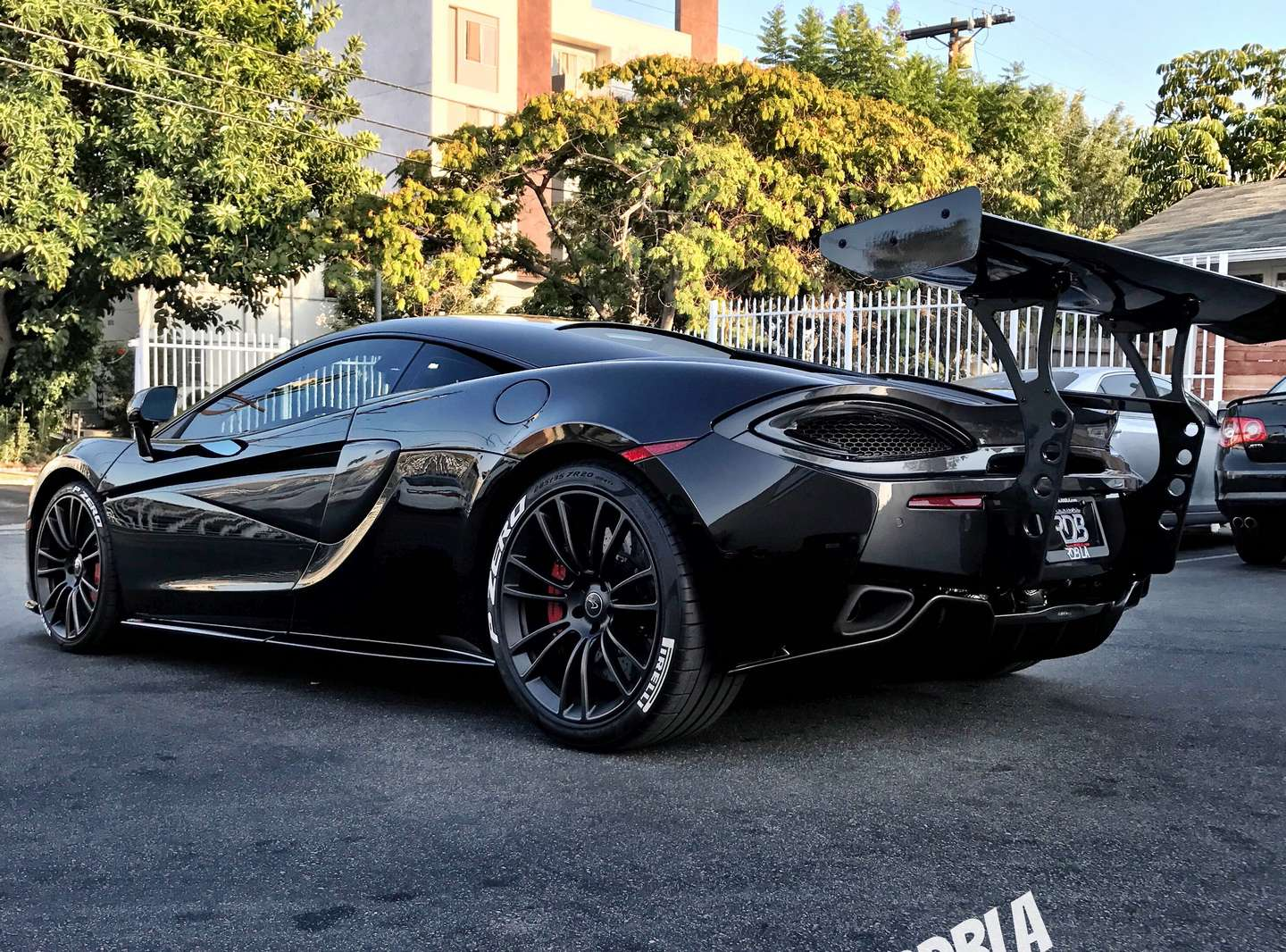 Black Mclaren 570S With a Custom Wing Setup By RDB