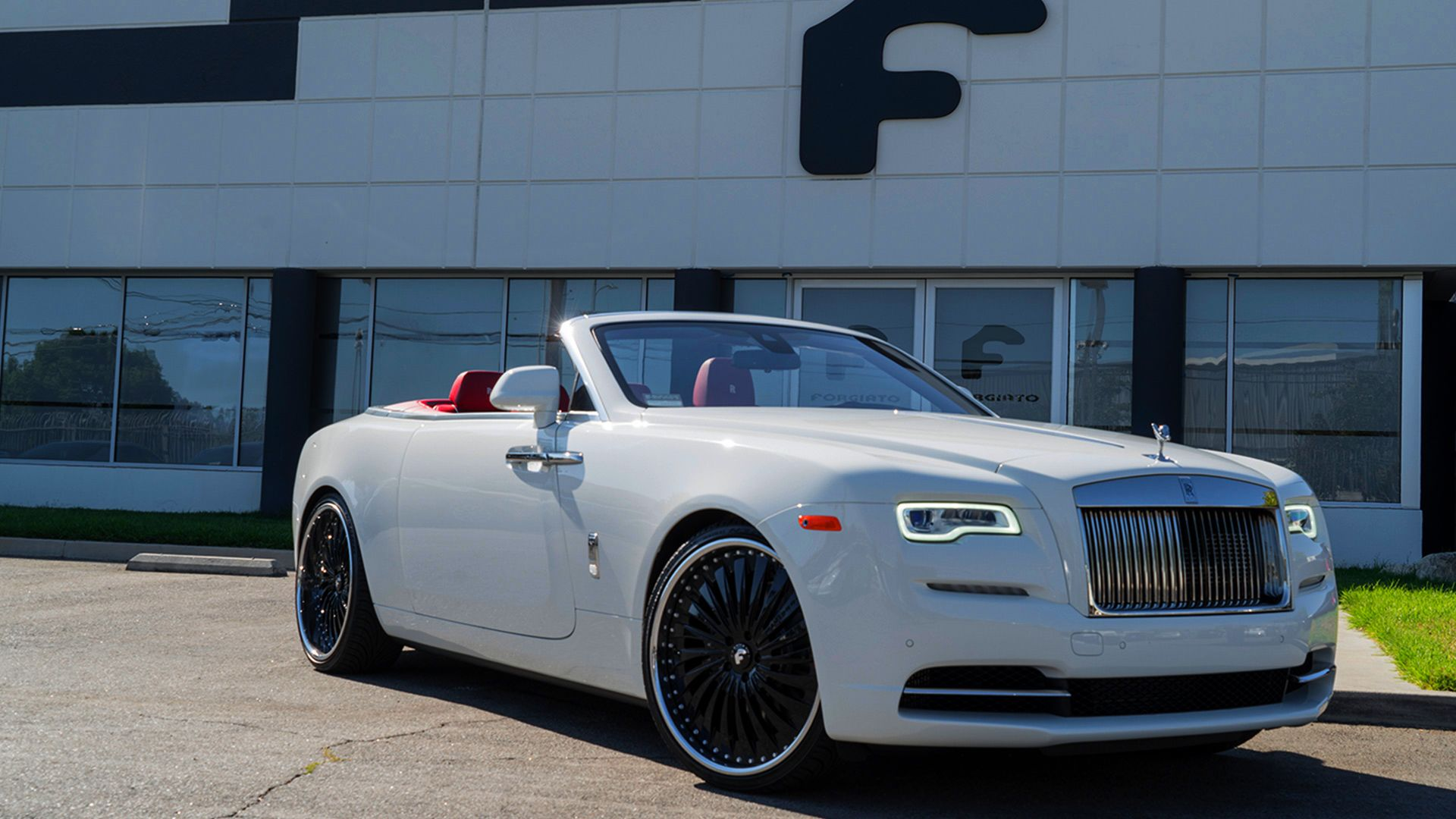 White Rolls Royce Dawn On Black Forgiatos