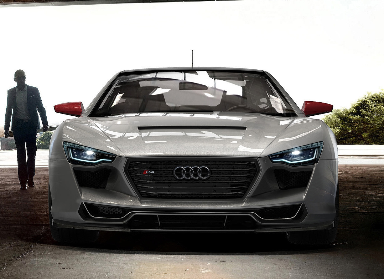 the audi r4 concept car designed by rene garcia. Black Bedroom Furniture Sets. Home Design Ideas