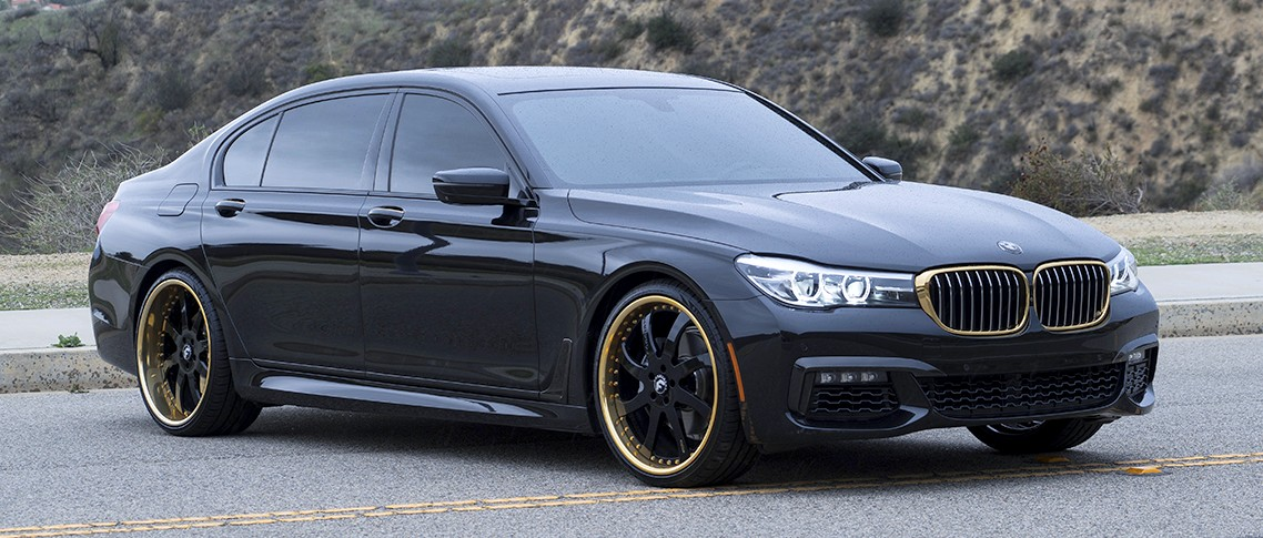 Black Bmw 7 Series On Forgiato Wheels Awesome