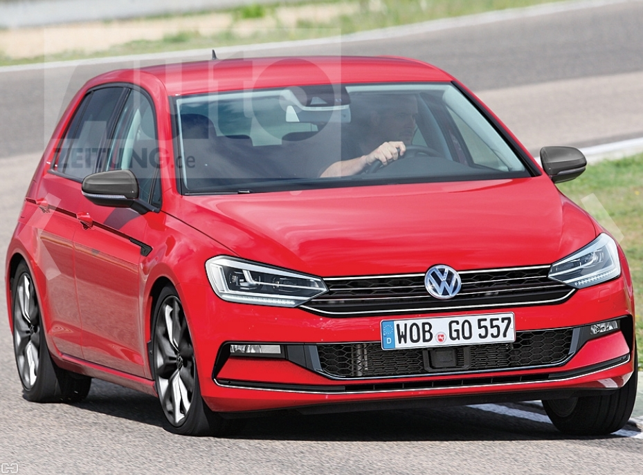 volkswagen golf   pictures revealed
